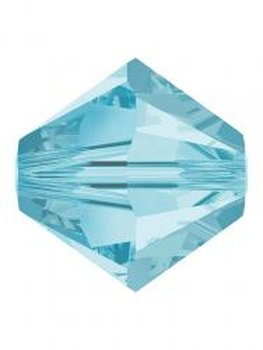 Rowan SHINE | Swarovski Perlen - Aquamarin Selection - 6  mm