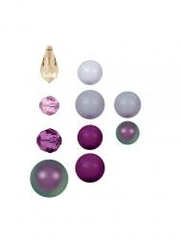 Rowan SHINE Swarovski Perlen -  Amethyst Selection - Mixed